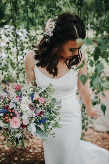 Bouquet and Hair piece