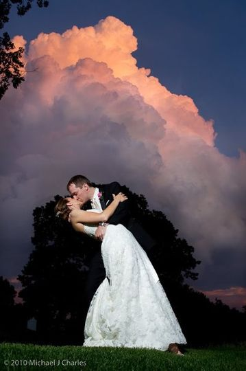 A pink sky caught on camera with this very special bride and groom!