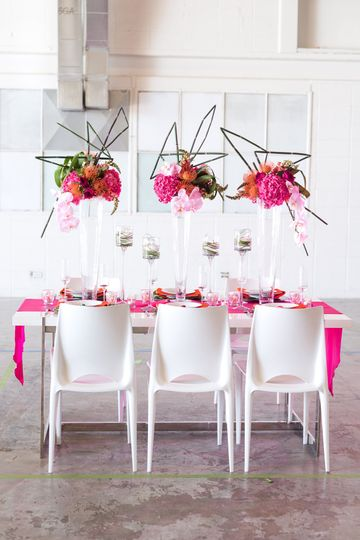 Styled shoot in pink