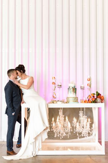 Styled shoot with newlyweds