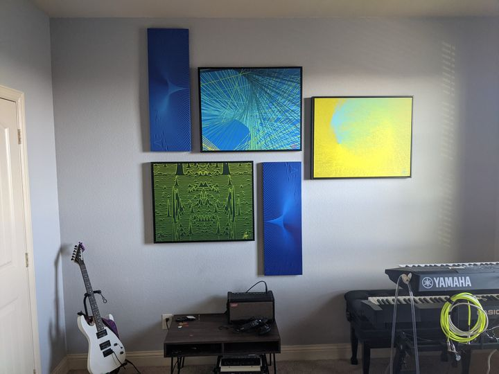 Collage in a music room