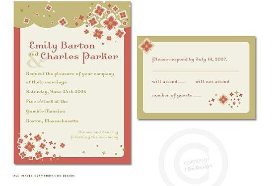 The delightful Bonita Invitation pleases the eye with its cheerful floral design. ¡Que bonita!