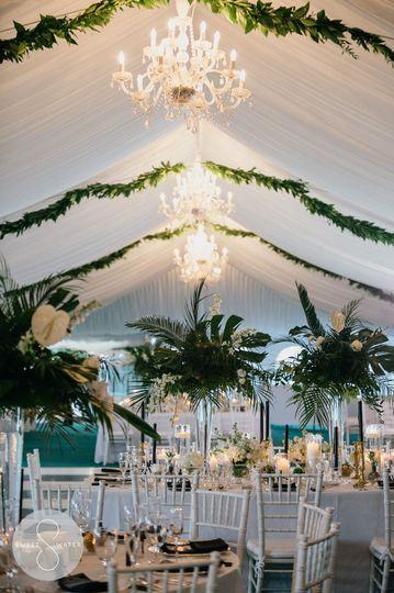 Elegant garden party arrangements
