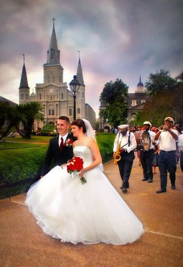 A Wedding Second Line at Jackson Square