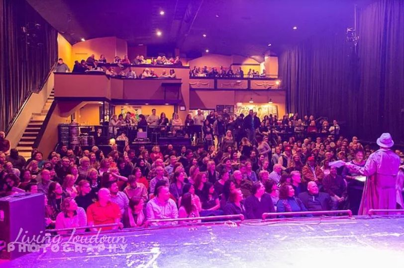 From stage right of Tally Ho Theatre