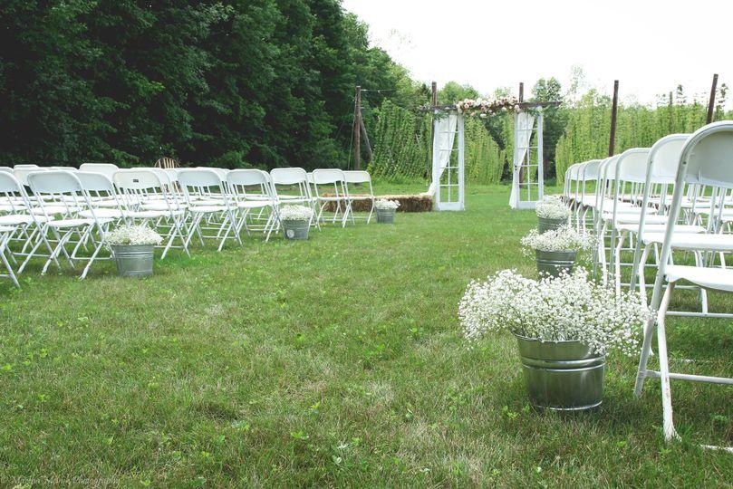 Wedding aisle setup