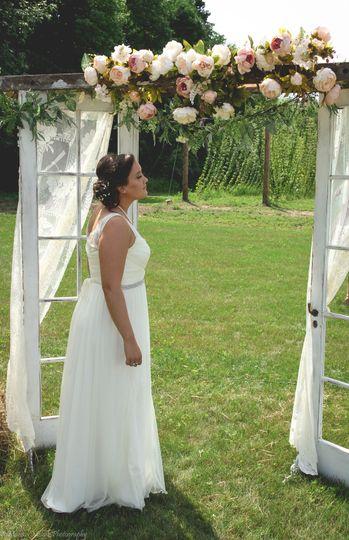 Bride by the doorway