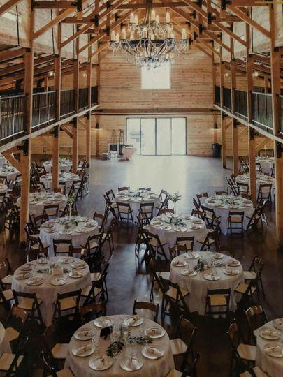 Inside of HillTop Barn