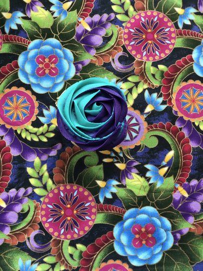 Teal & Purple Rose
