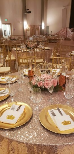 Banquet tables included in fee