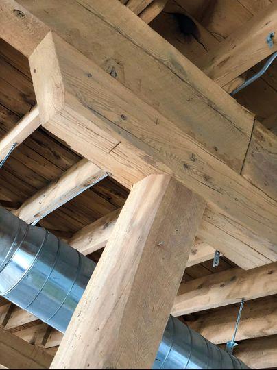 Original wooden joist ceiling