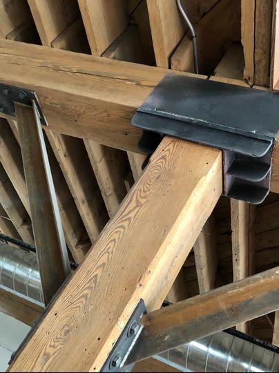 Original wood beams