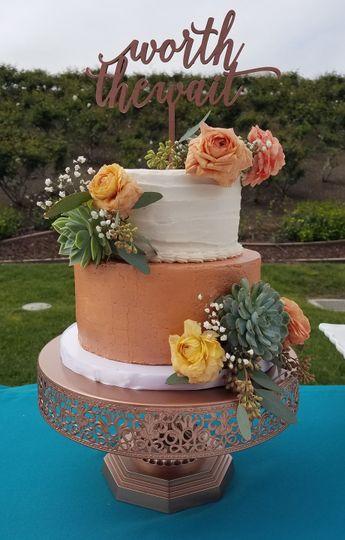 Golden Rose Cake Boutique - Wedding Cake - Costa Mesa, CA