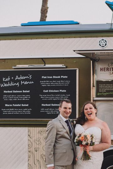 Custom food truck menu