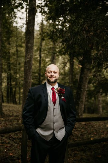 What a handsome groom!