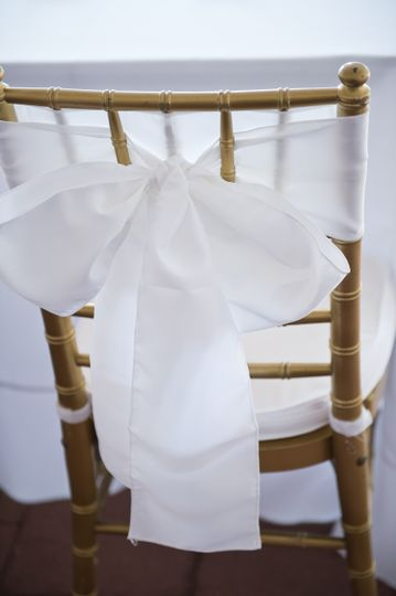 White chair decor