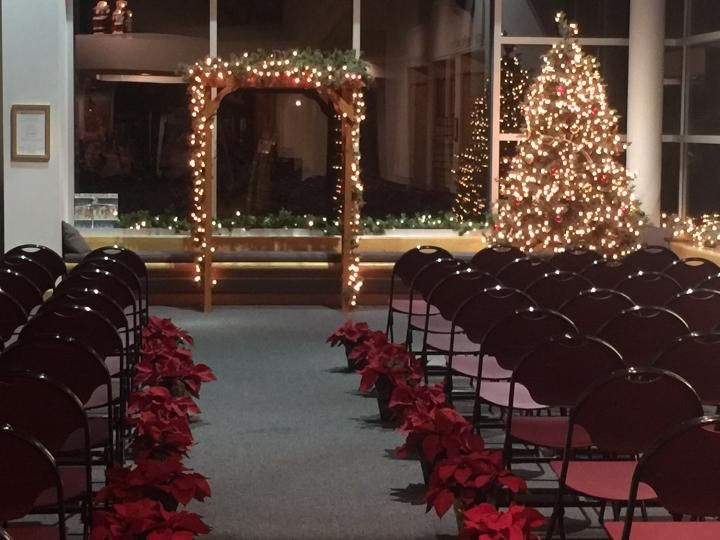 Winter Wedding setup