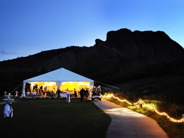 Tmx 1378488674608 Tent At Dusk Littleton, CO wedding venue
