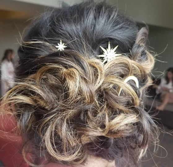 Wedding hair - Top Knot Bridal