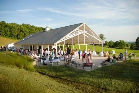 The open-air Pavilion has tent side options so rain or shine, your wedding is covered!