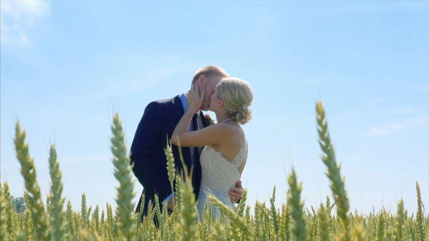 A kiss amid the green - Media Potion