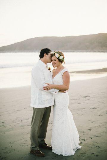 shell beach wedding 41