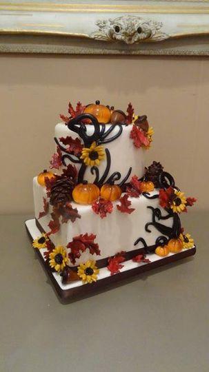 fallinspiredweddingcake