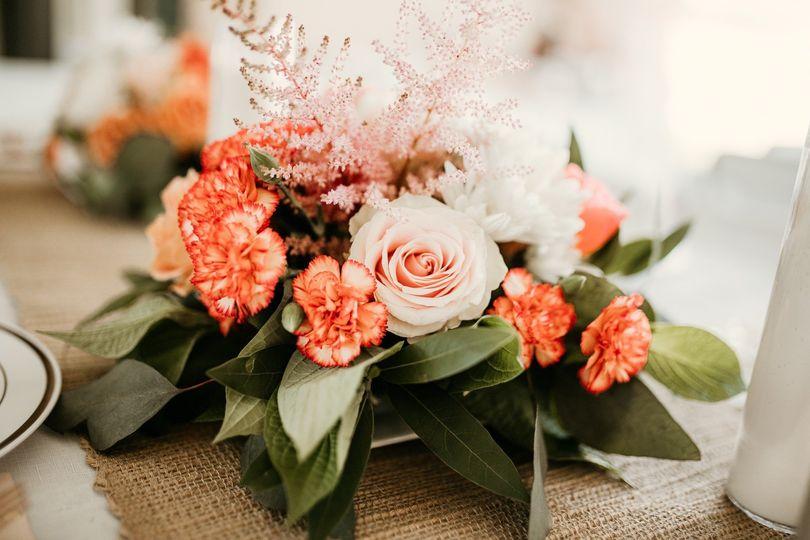 Quaint floral arrangement