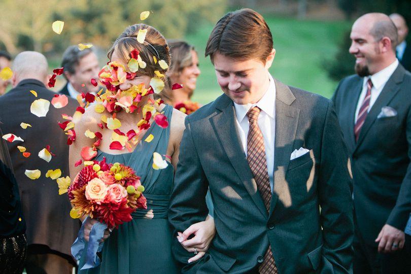 Couple's procession