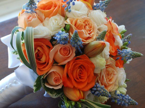 Orange and white bouquet