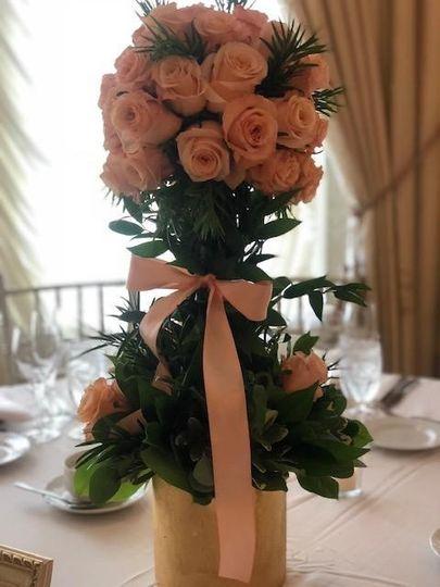 Peach Topiary of Roses