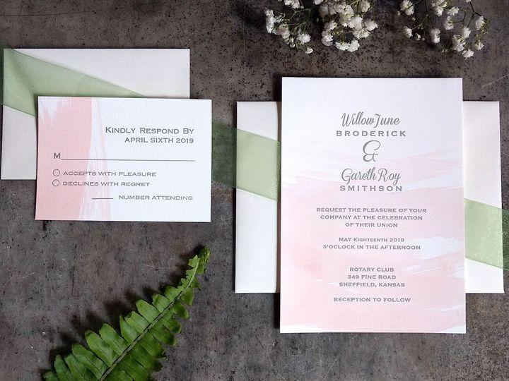 Tmx Blush Watercolor Spread Crop 51 1066335 1557956638 Reinbeck, IA wedding invitation