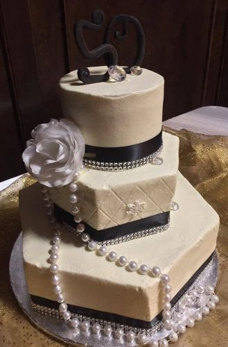 Mixed shapes tiered/wedding cake