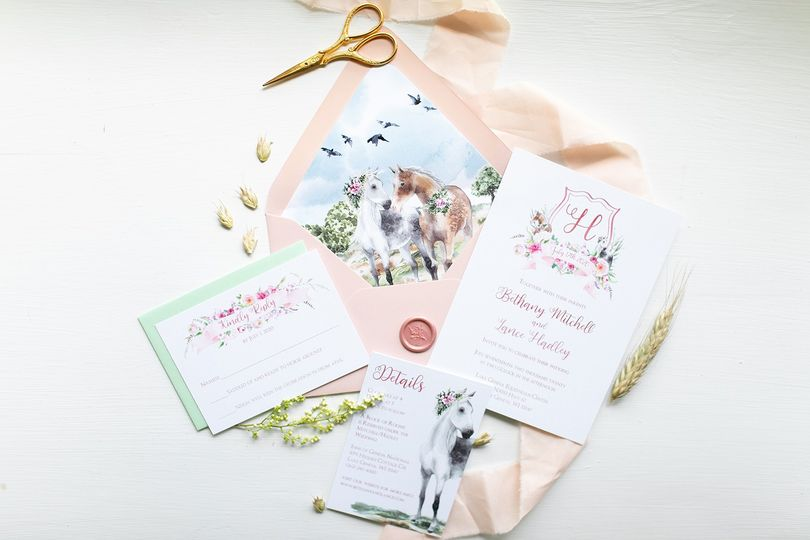 Equestrian Themed Invitations