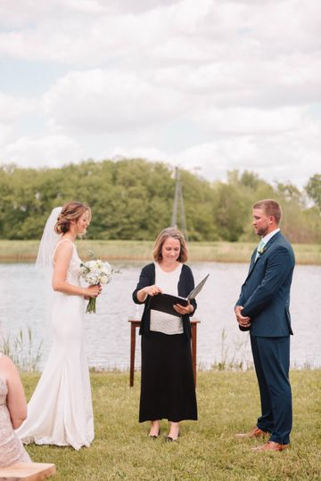 A small intimate wedding