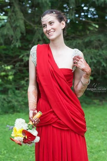 Beautiful red wedding dress
