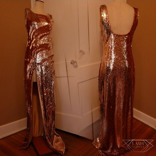 Sparkly bronze dress