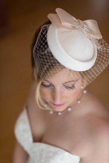 Airbrush and human hair lashes - Real Maine Weddings magazine Nadra Photography Kim Doll Onsite...