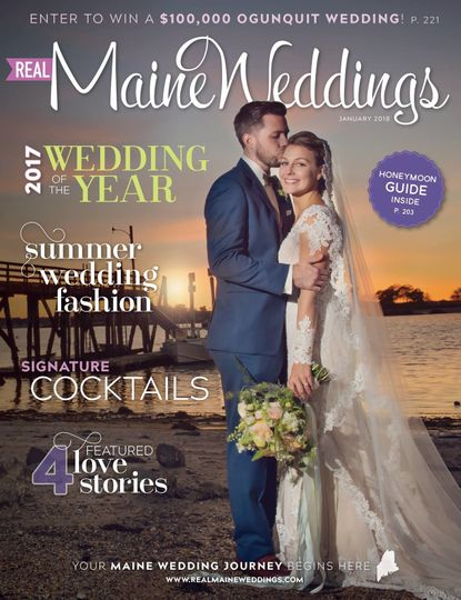 "I provided makeup for the Real Maine Weddings magazine ""2017 Wedding of the Year"" Photo by Kim..."