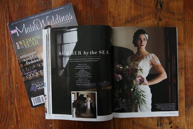 My work is in this January 2018 issue twice. For the fashion shoot and Wedding of the Year.