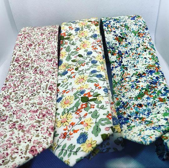 Floral neckties