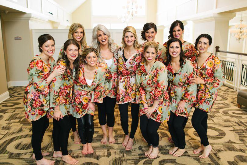 bridesmaids in mezzanine