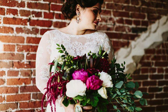 Gothic floral arrangement