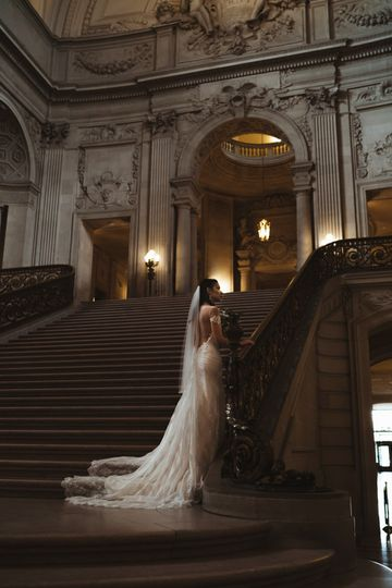 Bride before her ceremony