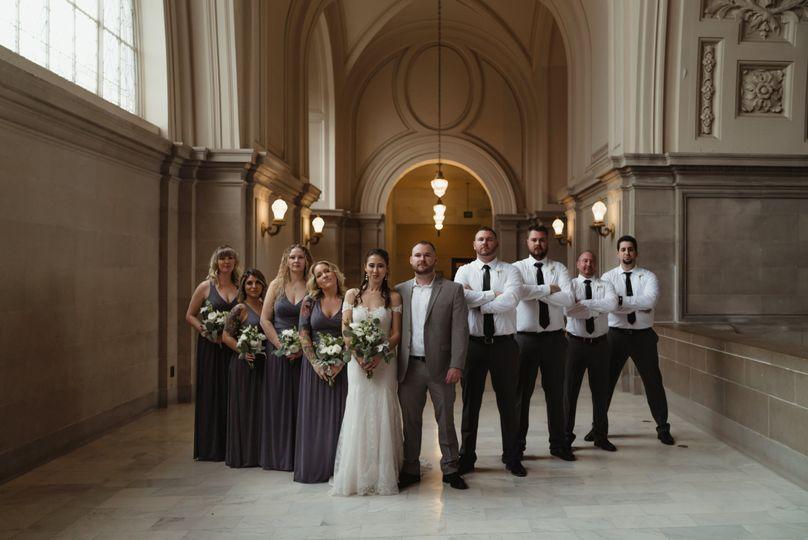 Bridal Party looking fierce
