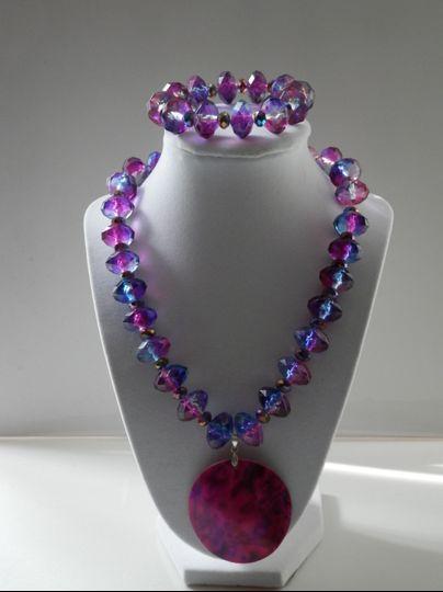 Blue & Purple Necklace Set