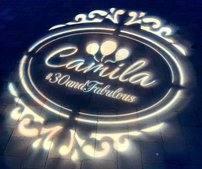 Custom monogram gobo