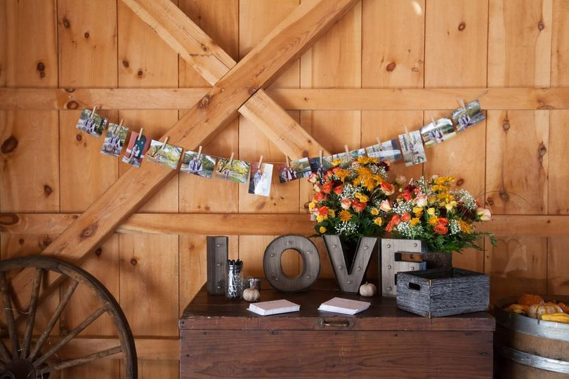Reception welcome table decor
