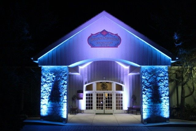 Make your club entrance impressive by adding some lighting to the car port