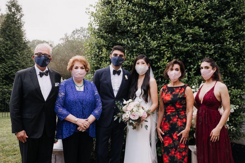 Masks on - check, wedding